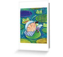 Waterlily elf Greeting Card