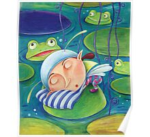 Waterlily elf Poster