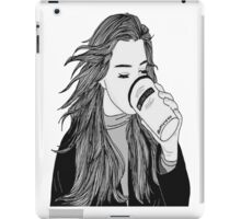 She Drinks Americanos & Works at Vogue iPad Case/Skin