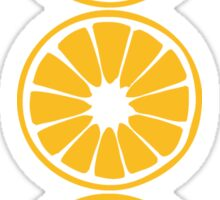 orange lemon half cut sour sweet tasty food pattern design 3 Sticker