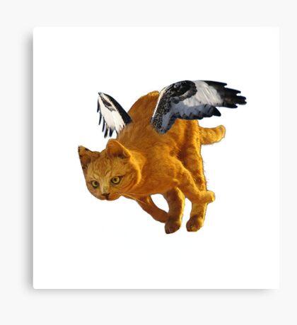 Flying Cat Canvas Print