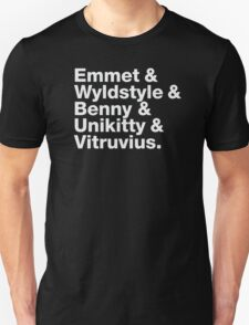 Brick Names Unisex T-Shirt