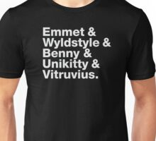 Brick Names Unisex T-Shirt