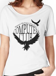 Computer Club Crow - Black Women's Relaxed Fit T-Shirt