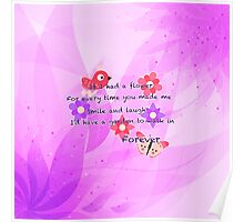 Lovely Friendship Love Quote Poster