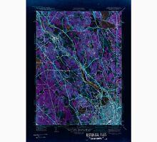 USGS TOPO Map Rhode Island RI Pawtucket 353438 1942 31680 Inverted Unisex T-Shirt