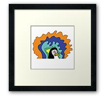 Penguidelic Framed Print