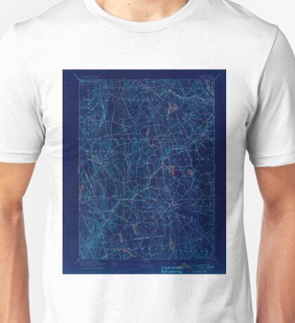 USGS TOPO Map Connecticut CT Gilead 331027 1892 62500 Inverted Unisex T-Shirt