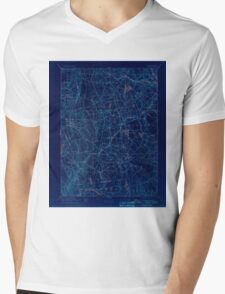 USGS TOPO Map Connecticut CT Gilead 331027 1892 62500 Inverted Mens V-Neck T-Shirt