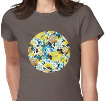 Happy Yellow Flower Collage Womens Fitted T-Shirt