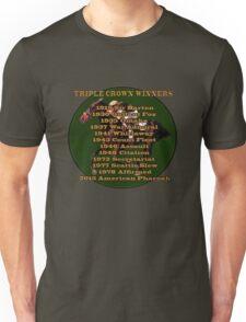Horse Racing Triple Crown Winners Unisex T-Shirt