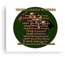 Horse Racing Triple Crown Winners Canvas Print