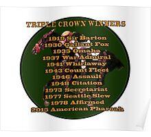 Horse Racing Triple Crown Winners Poster