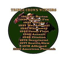 Horse Racing Triple Crown Winners Photographic Print
