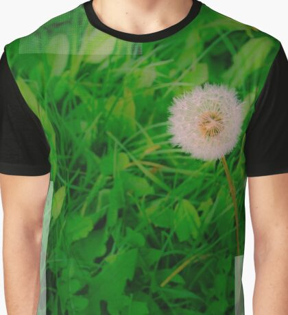 Green Dandelion Graphic T-Shirt