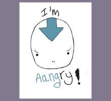 avatar aang angry! Kids Tee