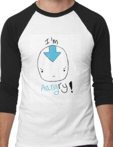 avatar aang angry! Men's Baseball ¾ T-Shirt