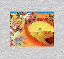 Desert Bridge Abstract with Flowers Orange Multi Hoodie