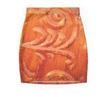 Glossy Orange Mini Skirt