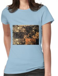 Light Marble Texture Womens Fitted T-Shirt