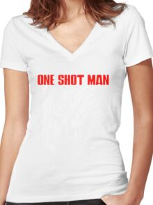 Trigun - One shot man Women's Fitted V-Neck T-Shirt