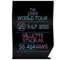25th July - Gillette Stadium Poster