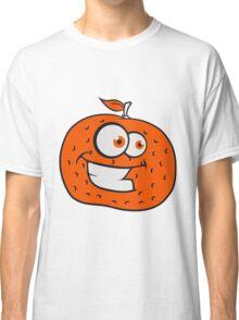 orange comic cartoon face grin funny Classic T-Shirt
