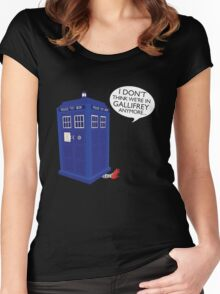 I Don't Think We're in Gallifrey Anymore... Women's Fitted Scoop T-Shirt