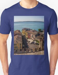 Lake Garda and Sirmione Old city in Italy Unisex T-Shirt