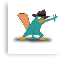 Perry the Platypus Canvas Print
