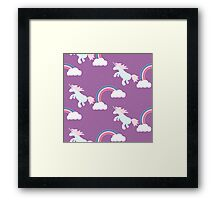 Unicorn horse pony violet design. Framed Print