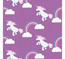 Unicorn horse pony violet design. Photographic Print