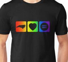 NC Loves Equality symbols--horizontal rainbow Unisex T-Shirt