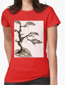 Chinese pine, a symbol of longevity Womens Fitted T-Shirt