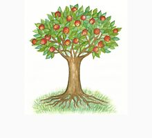 UNIQUE APPLETREE WITH RIPE APPLES  Womens Fitted T-Shirt
