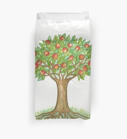 UNIQUE APPLETREE WITH RIPE APPLES  Duvet Cover