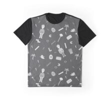 Pixel art 90's retro style grayscale design Graphic T-Shirt