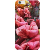 Colorful paper flowers and a basket iPhone Case/Skin