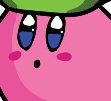 Kirby with Yoshi Hat Fanart Sticker