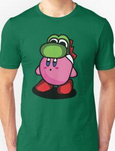Kirby with Yoshi Hat Fanart Unisex T-Shirt
