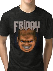 Doom Face 8 Tri-blend T-Shirt