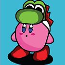 Kirby with Yoshi Hat Fanart by Marie Mosca