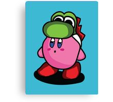 Kirby with Yoshi Hat Fanart Canvas Print