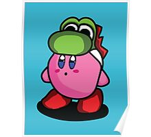 Kirby with Yoshi Hat Fanart Poster