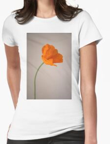 a flower Womens Fitted T-Shirt