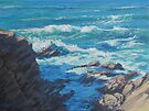 Along the Cliffs - Seascape by Karen Ilari