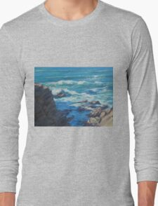 Along the Cliffs - Seascape Long Sleeve T-Shirt