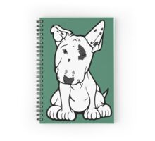 English Bull Terrier Black Eye Patch  Spiral Notebook