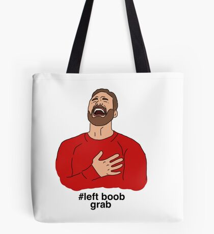 # left boob grab Tote Bag