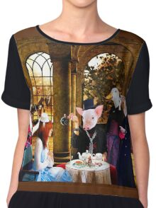 ~ They thought the creature very odd, but invited her to tea ~ Chiffon Top